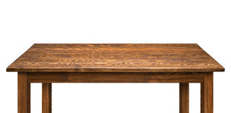 Table en bois d'isolement photo stock