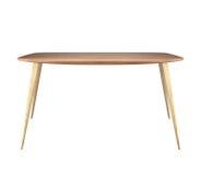 Table en bois d'isolement photo libre de droits