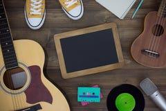 Table en bois de compositeur de musique Images stock