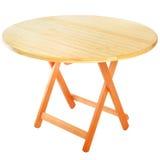 Table en bois de pliage rond pour la récréation extérieure image stock