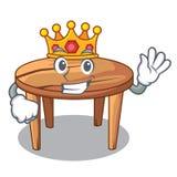 Table en bois de roi d'isolement sur la mascotte illustration libre de droits