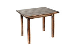 Table en bois de vintage d'isolement sur le blanc Photographie stock libre de droits