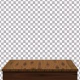 Table en bois sur le fond d'isolement Calibre, meubles, vecteur illustration libre de droits
