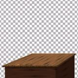 Table en bois sur le fond d'isolement Calibre, meubles, vecteur illustration de vecteur