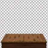 Table en bois sur le fond d'isolement Calibre, meubles, vecteur illustration stock