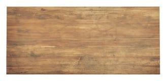 Table en bois utilisée d'isolement photographie stock libre de droits