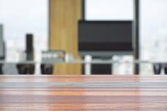 Table en bois vide Photo libre de droits