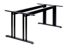 Table en métal avec deux jambes Photo stock