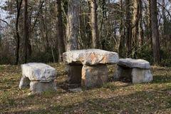 Table en pierre Photographie stock
