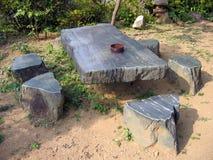 Table en pierre Photo libre de droits