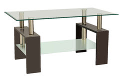 Table en verre Photos stock
