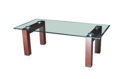Table en verre de café d'isolement Image stock