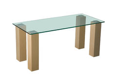 Table en verre de café d'isolement Photos stock
