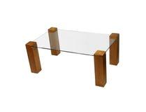 Table en verre dinante moderne images stock
