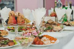 Table with entertainments 2794. Stock Images