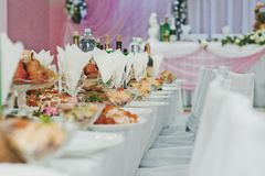 Table with entertainments Stock Photo