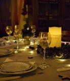 Table et bougies de Noël photos libres de droits