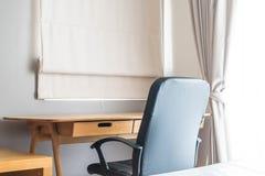 table et chaise - espace de travail à la maison Photo stock