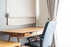 table et chaise - espace de travail à la maison Image stock