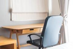table et chaise - espace de travail à la maison Photographie stock