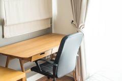 table et chaise - espace de travail à la maison Photographie stock libre de droits
