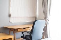 table et chaise - espace de travail à la maison Photos libres de droits