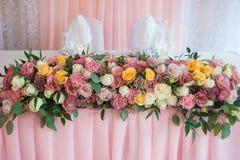 Table et floristics de mariage Images stock