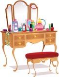 Table et miroirs de vanité Image stock