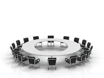 Table et présidences de conférence Photographie stock