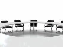 Table et présidences de conférence Images libres de droits