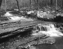 Table falls. Cascading table waterfall at Collins Creek Trailhead, Heber Springs, Arkansas Royalty Free Stock Photo