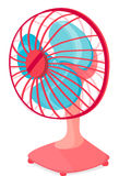Table fan. Illustration of table fan on a white background Stock Images