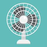 Table Fan flat icon, household and appliance. Vector graphics, a colorful solid pattern on a white background, eps 10 Stock Photo