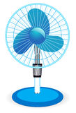Table fan -  illustration. On white Stock Photos
