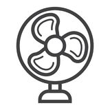 Table Fan line icon, household appliance. Table Fan line icon, household and appliance, vector graphics, a linear pattern on a white background, eps 10 Stock Photography