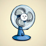 Table fan. Vector drawing Royalty Free Stock Photos