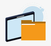 Table file and big data design Royalty Free Stock Image