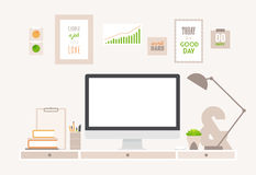Table Flat Vector Business Office and Workspace Stock Image