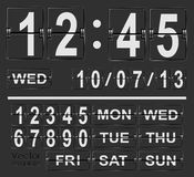 Table flip clock display template Royalty Free Stock Photos