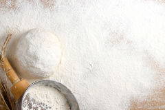 Table with flour Stock Images