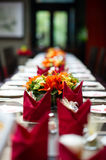 Table flowers Stock Image