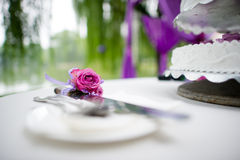 Table flowers Royalty Free Stock Image