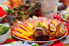 Table with food Stock Photos