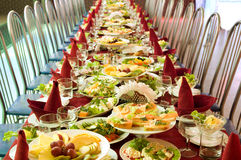 Table with food Stock Image