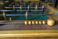 Table footbal. One match in a table footbal Stock Image