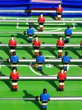 Table football. Tabletop football with shadows Stock Photo