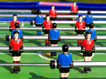 Table football. Tabletop football with shadows Stock Image