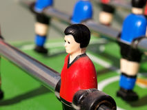 Table Football. Tabletop football with shadows Royalty Free Stock Photography