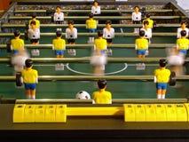 Table football. Small table football, sport toy Stock Photo