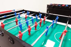 Table football is another group activity Stock Photo
